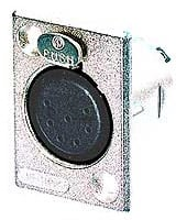 7-Pin XLR Female Rectangular Panel Connector, Nickel