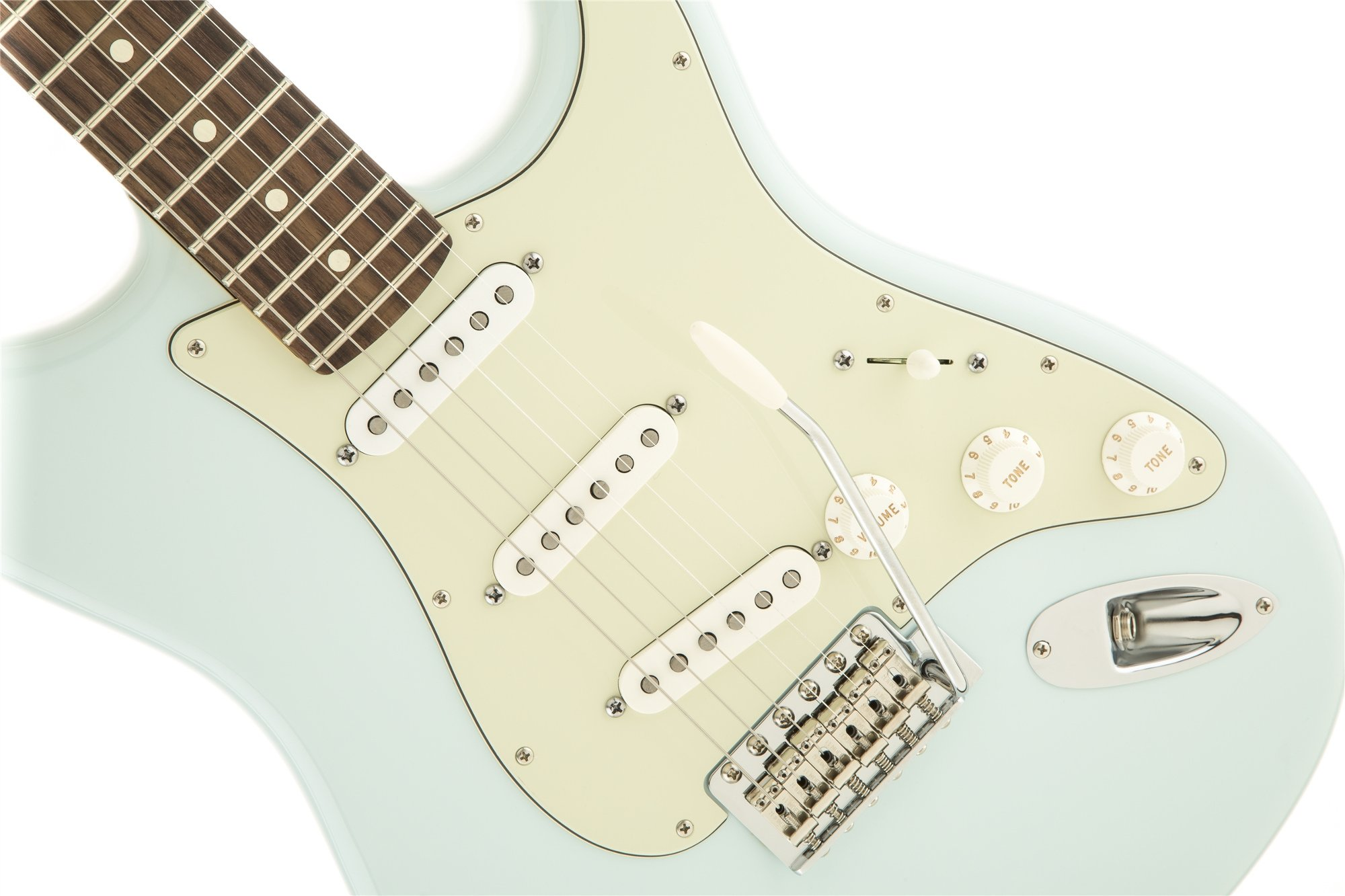 Electric Guitar with SSS Pickup Configuration in Sonic Blue with Rosewood Fingerboard
