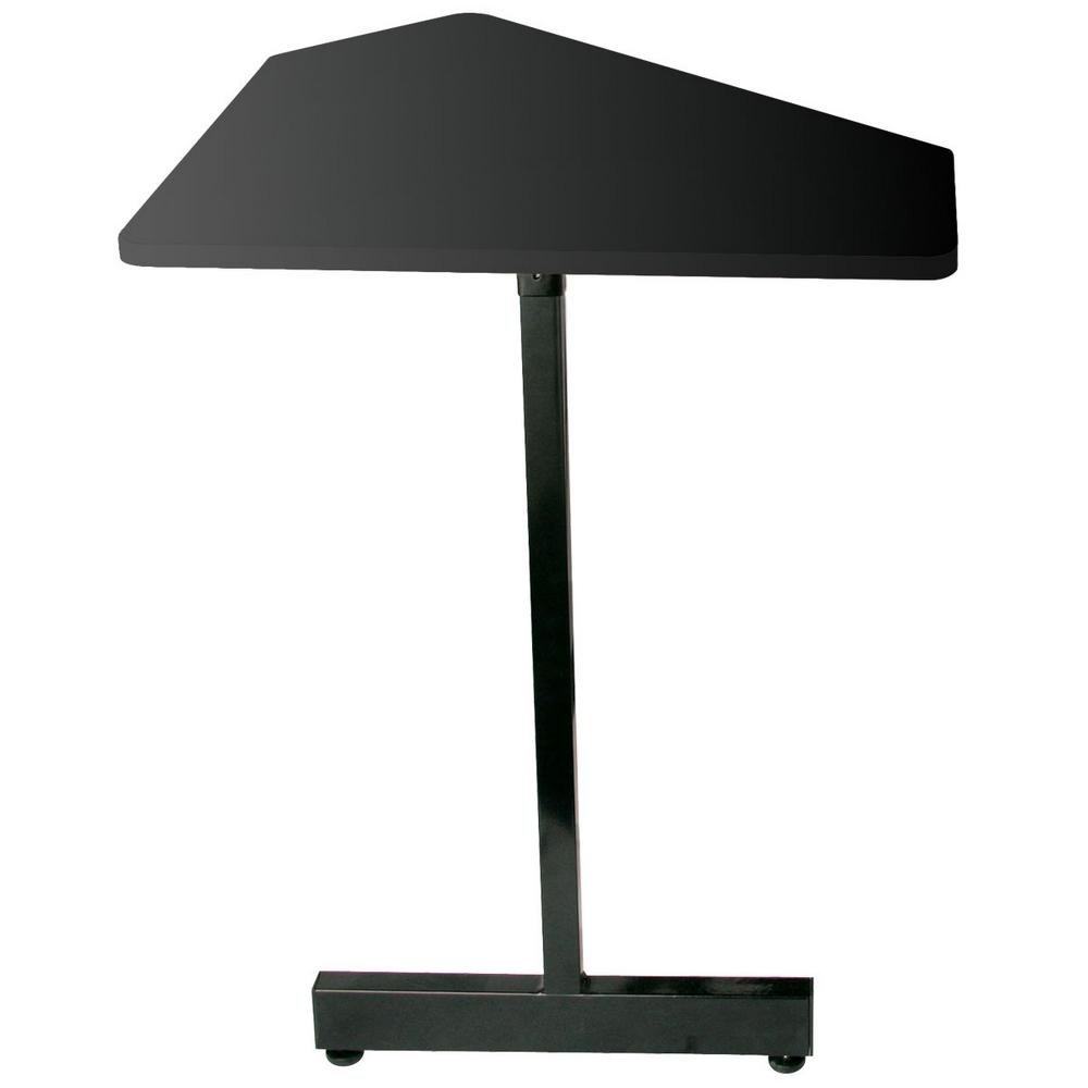 45 Degree Angled Corner Desk Extension (Black Steel Finish, for use with WS7500B)
