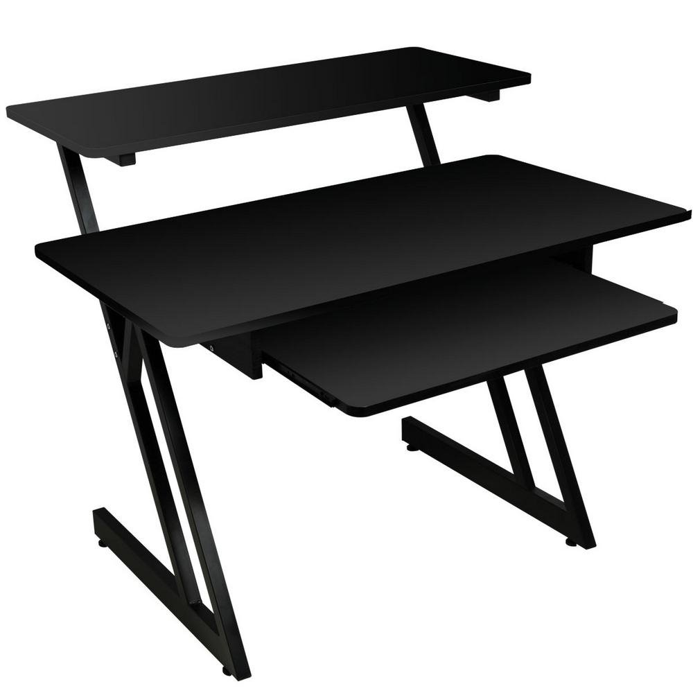 On-Stage Stands WS7500B Wooden Workstation in Black WS7500B