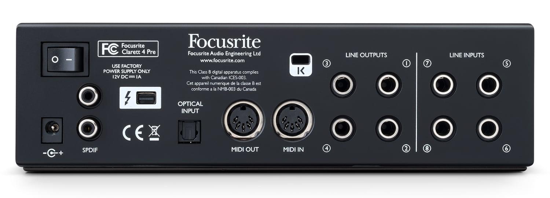 18-input / 8-output Thunderbolt Audio Interface