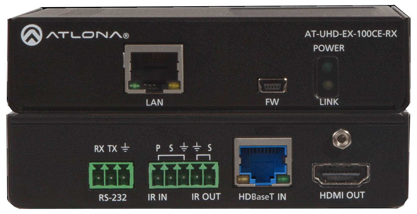 328ft (100m) HDBaseT Transmitter/Receiver with Ethernet, Control, and PoE