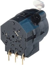 "Neutrik NCJ5FI-H Combo 1/4"" Mono + 3-pin XLR Female Receptacle, Stereo Switching Jack, Horizontal PCB Mount NCJ5FI-H"