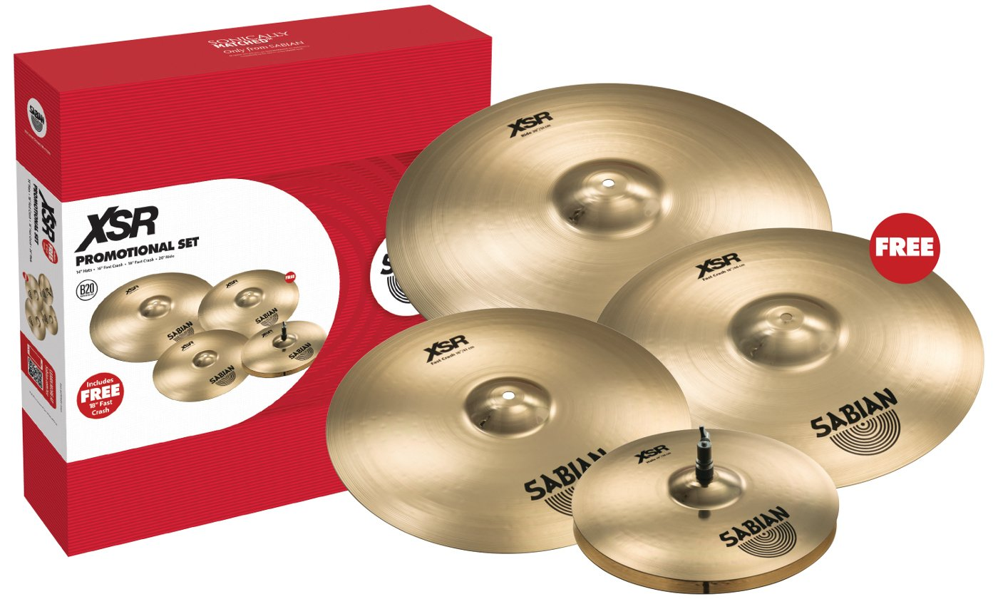"Cymbal Pack with 14"" XSR Hi-Hats, 16"" Fast Crash, 20"" Ride"
