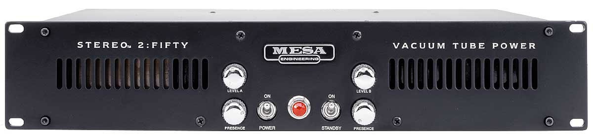 Mesa Boogie Ltd STEREO-2-FIFTY 50W 2-Ch Rackmount Guitar Power Amplifier STEREO-2-FIFTY