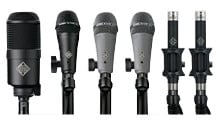 Drum Microphone Package With 6 Microphones