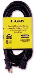 25'. 12 Gauge, 3-Conductor Electrical Extension Cord with 3-Outlet Power Block
