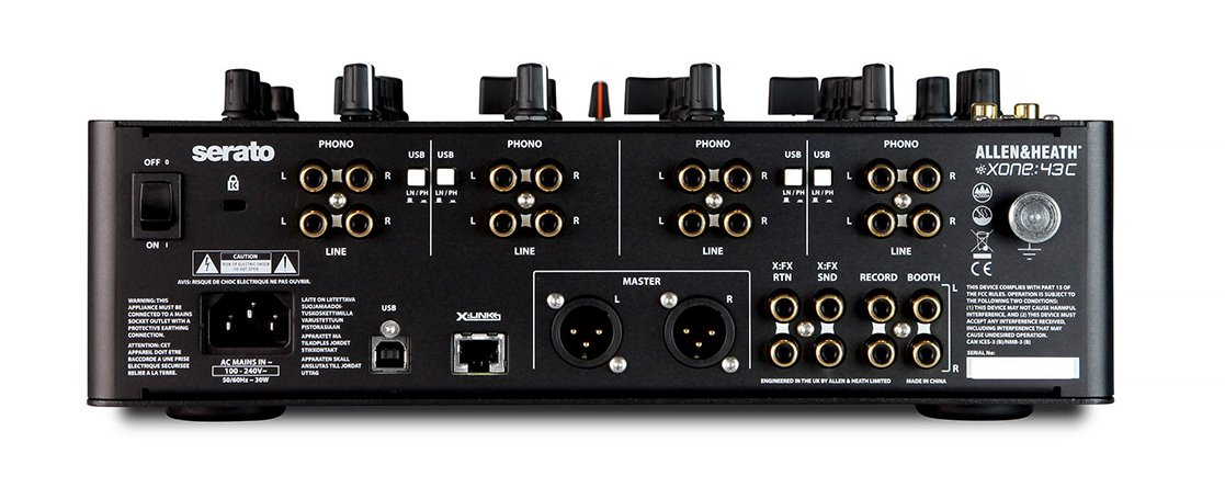 4+1 Channel DJ Mixer with Soundcard, Serato DJ Club Kit, USB