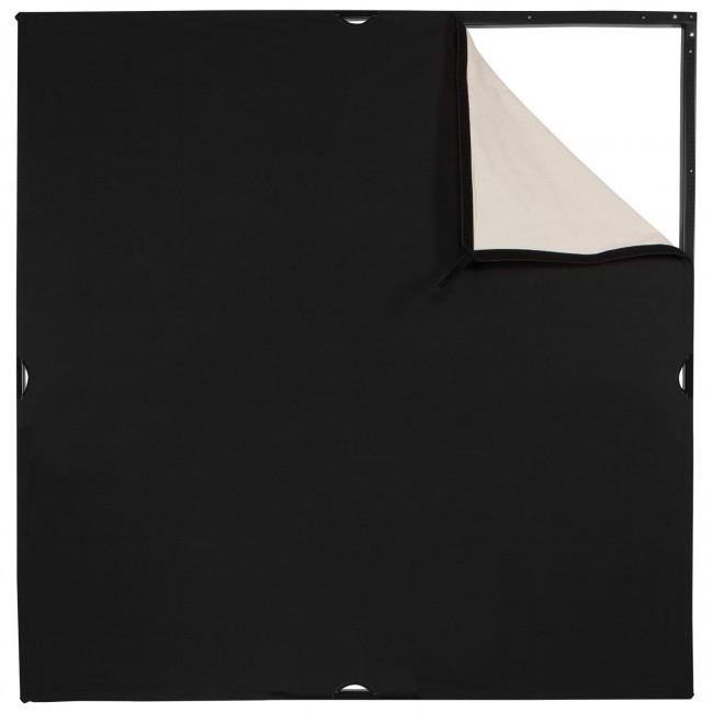 Westcott Scrim Jim® Cine 4' x 4' Unbleached Muslin/Black Fabric 1948