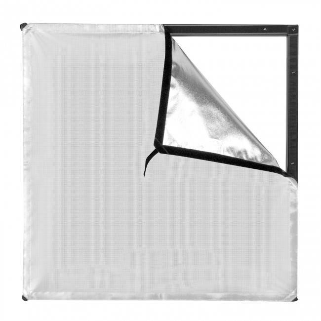 2' x 2' Silver/White Bounce Fabric