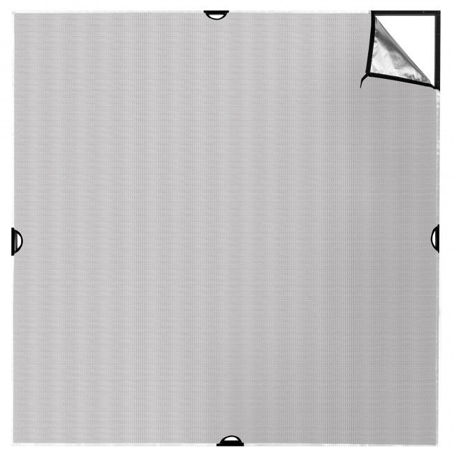 4' x 4' Silver/White Bounce Fabric