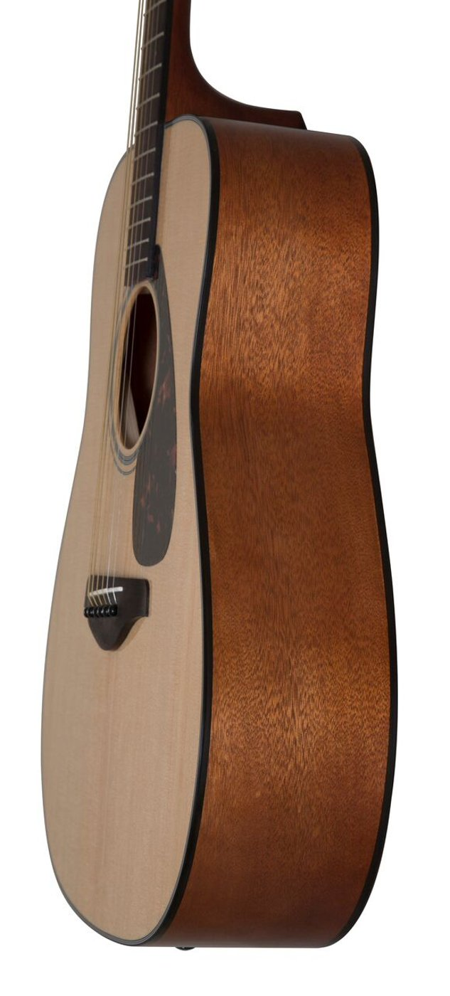 Acoustic Guitar with Solid Sitka Spruce Top, Scalloped Bracing