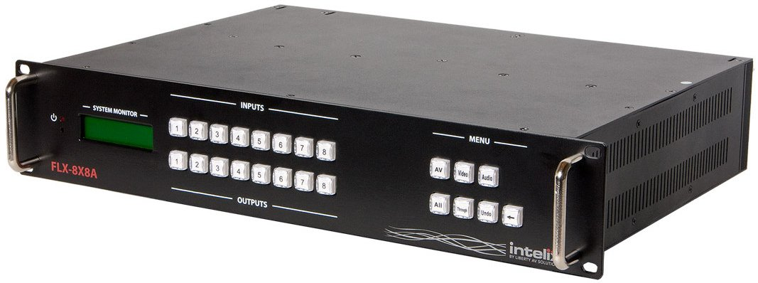 Intelix FLX-88 8x8 Input to Output Modular Video/Audio Matrix Switcher FLX-88