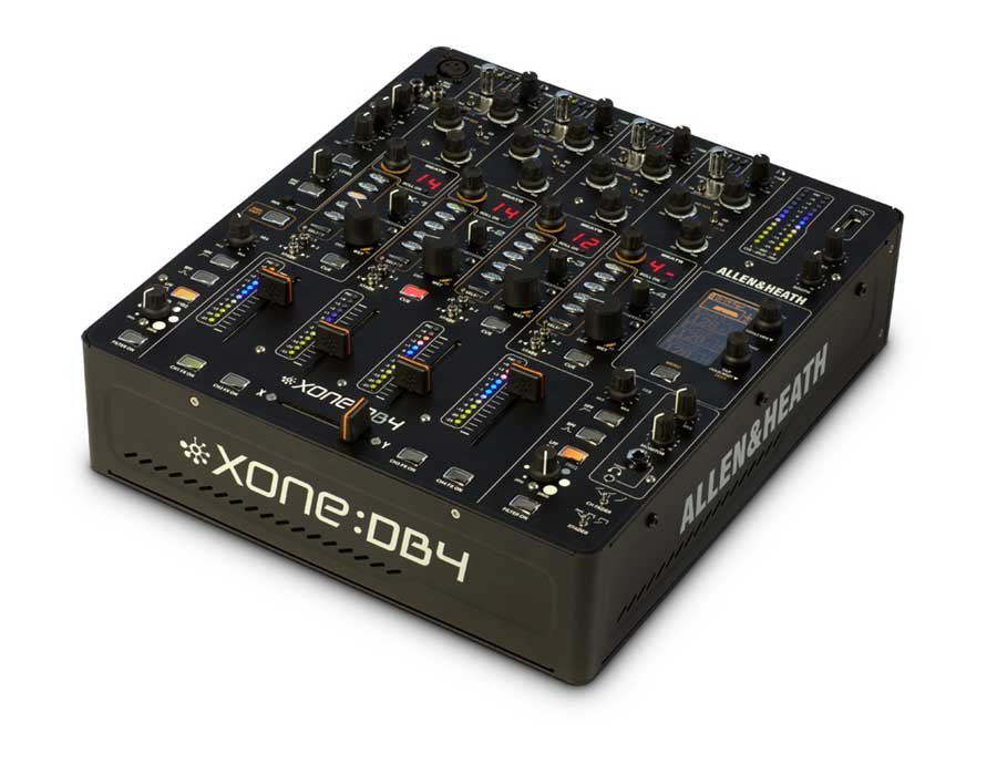 4 Channel DJ Mixer with FX and USB