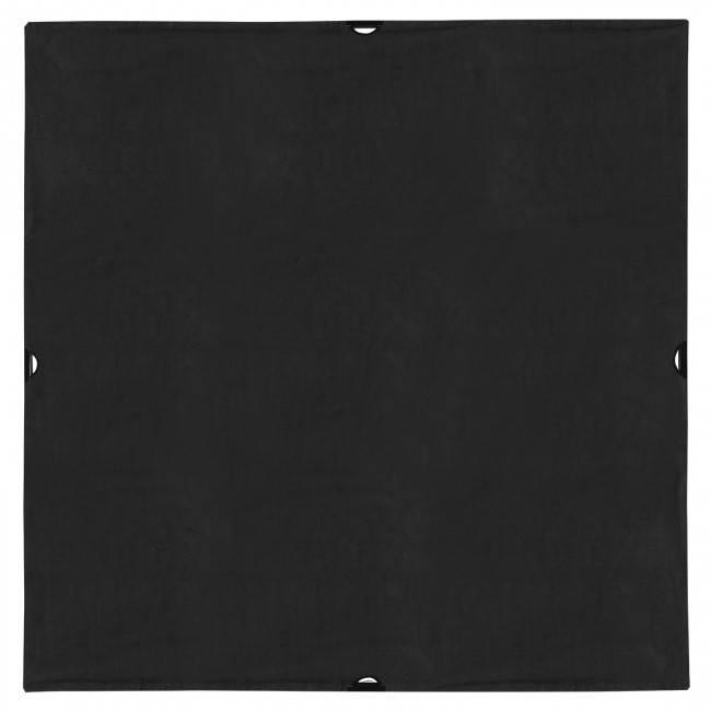 8' x 8' Solid Black Block Fabric