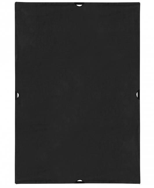 4' x 6' Solid Black Block Fabric