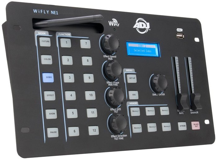 Battery Powered Advanced Wireless DMX Controller with WiFLY