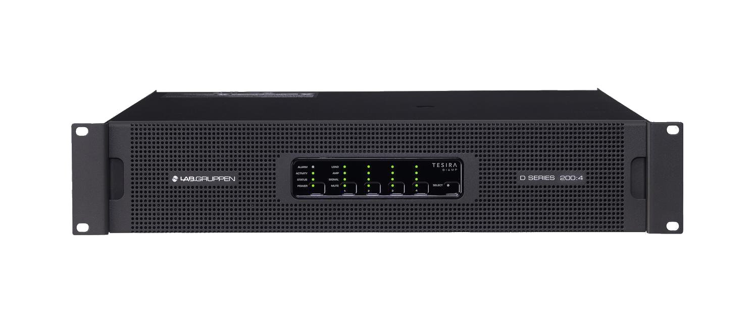 Lab Gruppen D200-4TA 4x4400w Lake Amp with Optional Analog Inputs D200-4TA