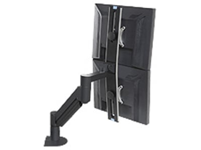 Dual Monitor Arm, Black, for Monitors That Are 9 - 21 lbs