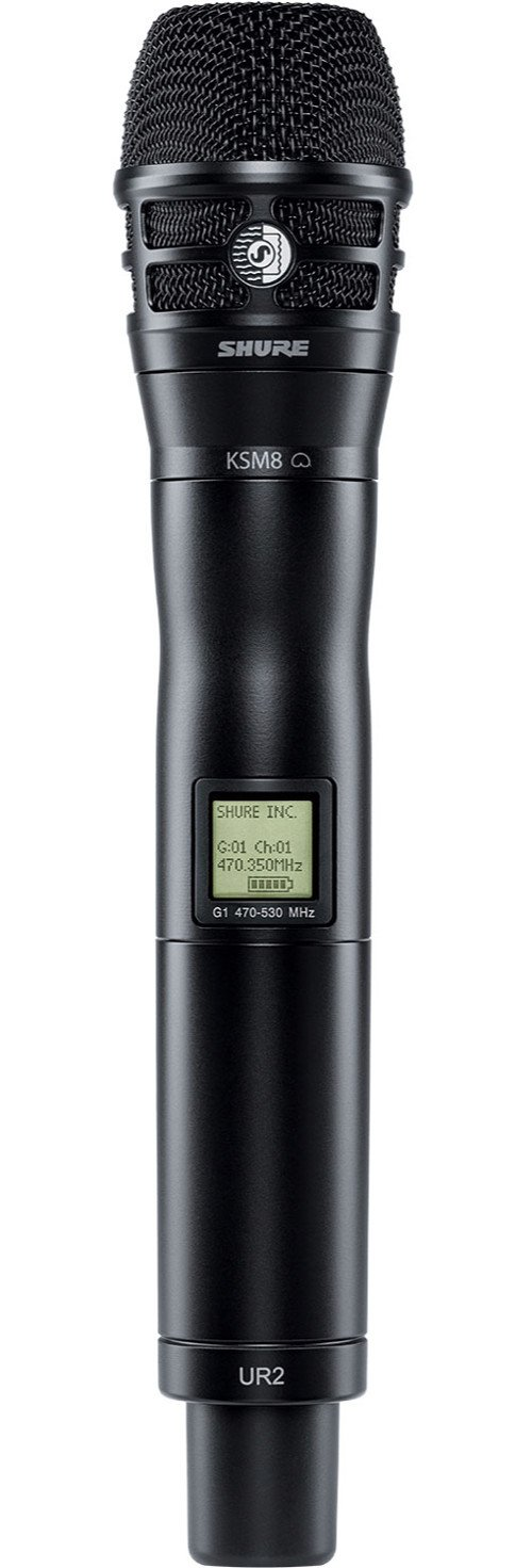 Handheld Wireless Microphone Transmitter, Operates Between 518 to 578 MHz, Black