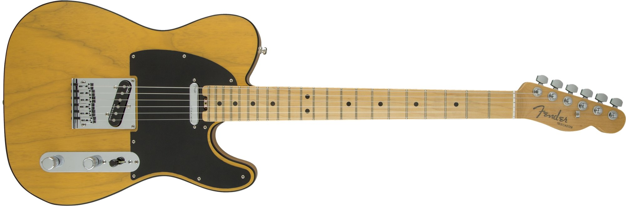 Single Cutaway SS Electric Guitar in Butterscotch Blonde Finish with Ash Body and Maple Fingerboard