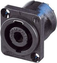 4-Pin Speakon Male Panel Connector, 40-amp
