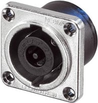 8-pin Male Speakon Chassis Connector, Nickel