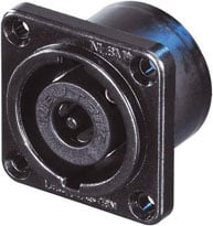8-pin Male Speakon Chassis Connector, Black