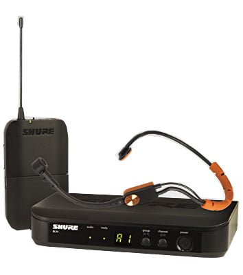 Headworn Wireless System with SM31FH Headset Microphone,  542 To 572 MHz