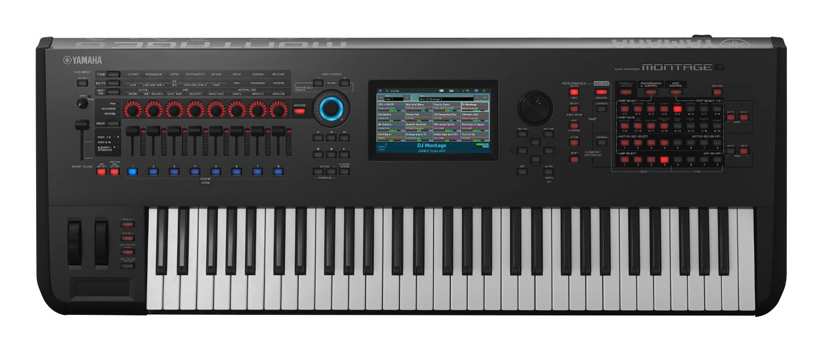 yamaha montage 6 61 key synthesizer full compass. Black Bedroom Furniture Sets. Home Design Ideas