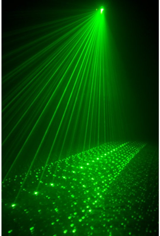 Blue and Green Laser Effect
