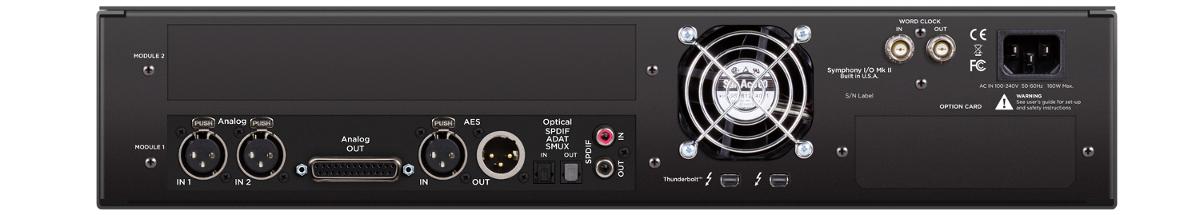 Thunderbolt 2 x 6 Analog I/O,  8x8 Opt,  AES I/O,  2-Ch S/PDIF