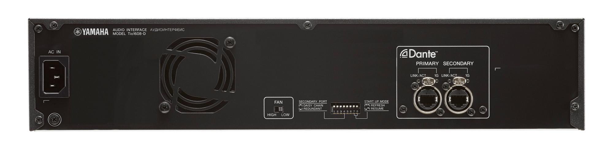 Yamaha tio1608 d 16 input 8 output dante stagebox for tf for Yamaha dante card