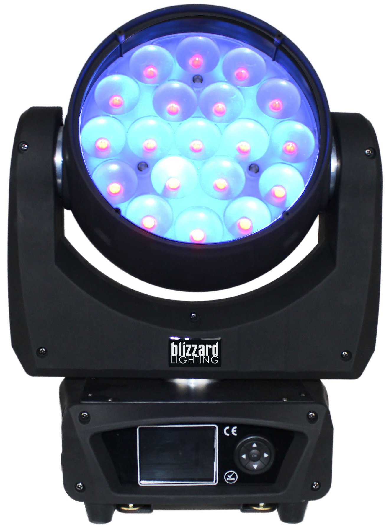 19x 15W RGBW LED Moving Wash Light with Pixel Control