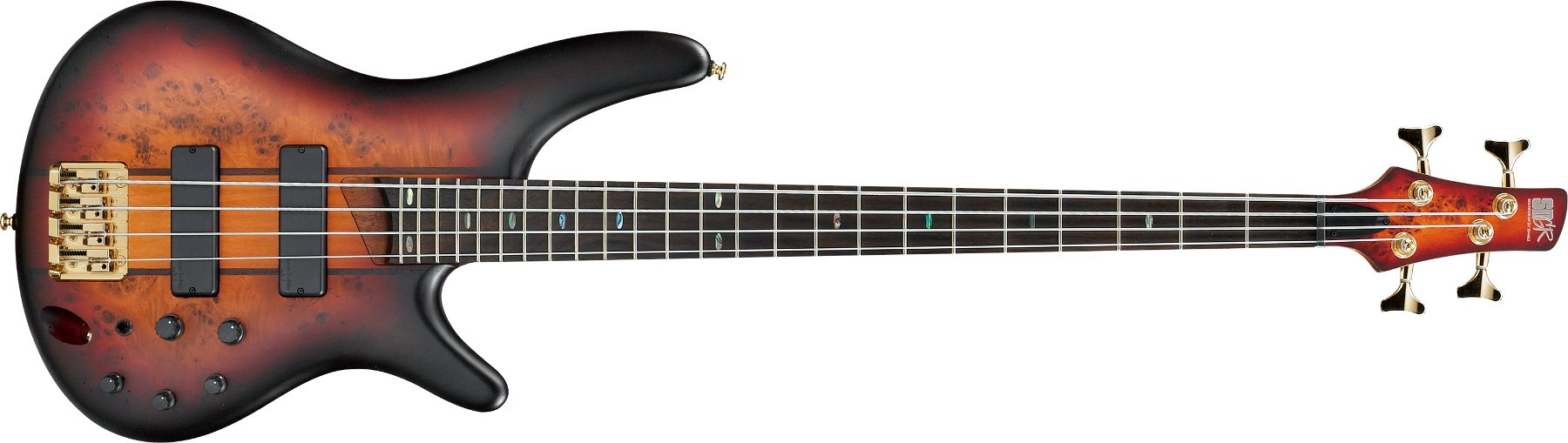 Ibanez SR800 4-String Bass Guitar, 24-Fret, Rosewood Fretboard with Abalone Oval Inlay SR800