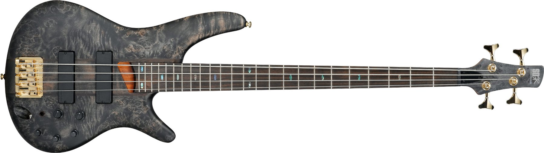 4-String Bass Guitar, 24-Fret, Rosewood Fretboard with Abalone Oval Inlay