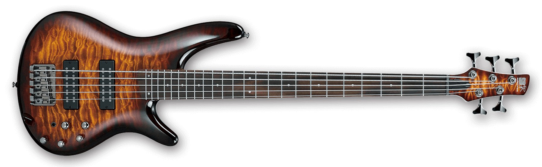 5-String Bass Guitar, 24-Fret, Rosewood Fretboard with White Dot ...