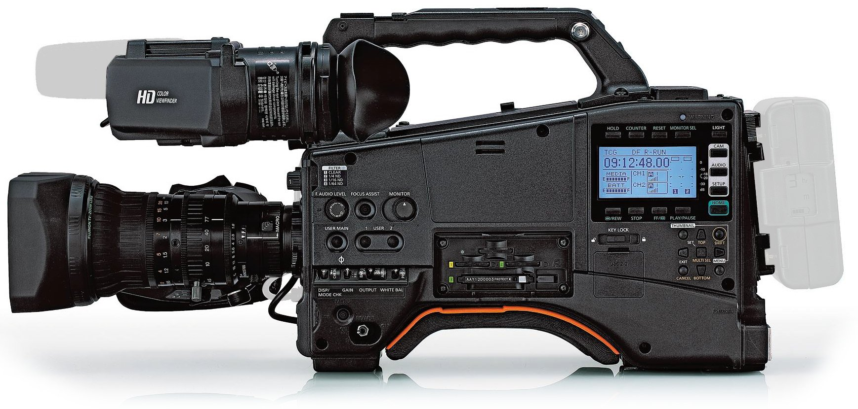 AVC-ULTRA Camcorder with AG-CVF15G Color LCD Viewfinder and FUJINON 17x Zoom Lens