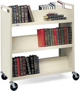 Book Truck, 6 Slant Shelves