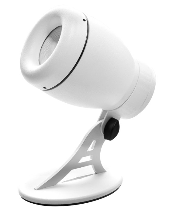 """Compact Speaker, 2"""" Point Source, White"""