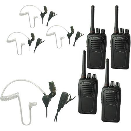 SST Headset, 4 SC-1000 Radios, Lapel Microphone Earbuds