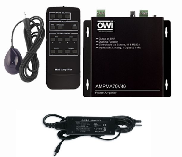 Power Amplifier, 40W, 70V Or 100V