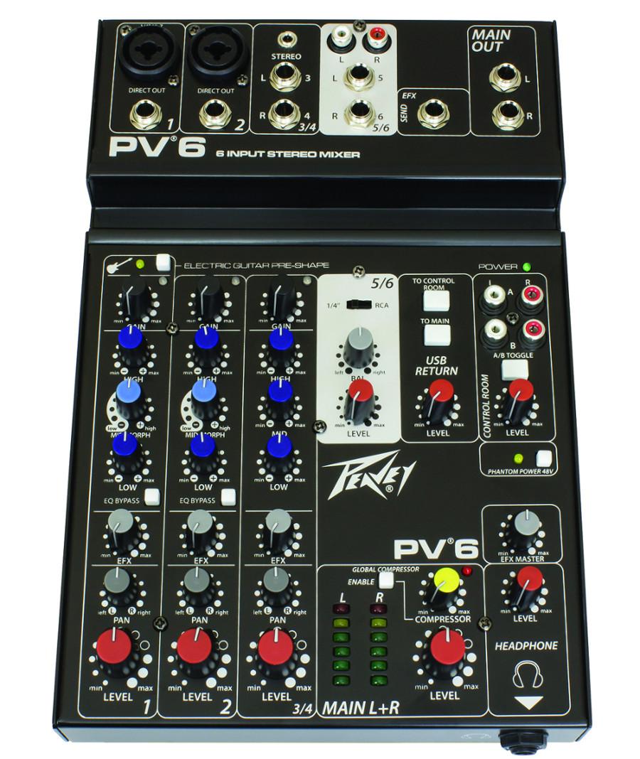 6-Input Stereo Mixer