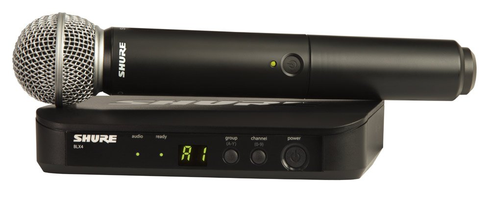 Wireless Microphone System with SM58 Handheld Microphone & BLX2 Transmitter, H9 Band 512-542 MHz
