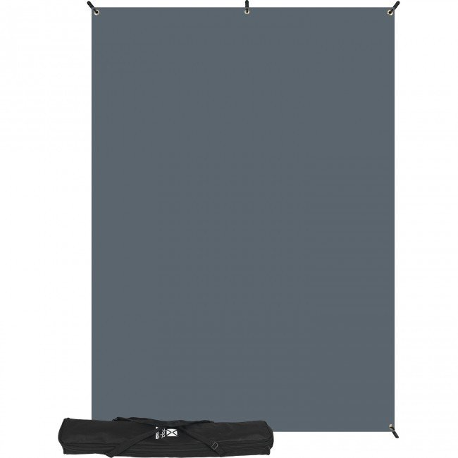 with 5' x 7' Neutral Gray Backdrop