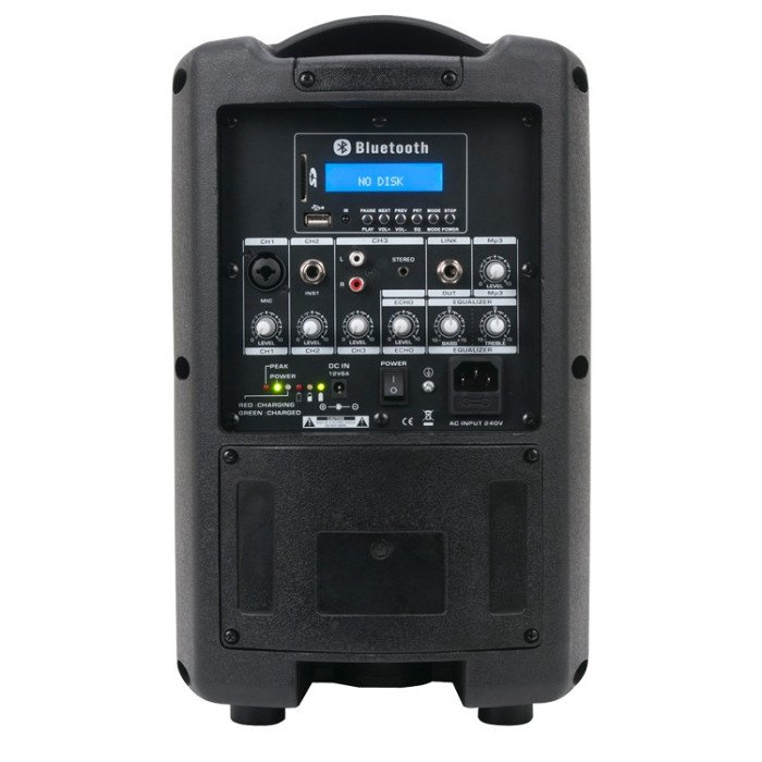 8-Inch, 2-Way Portable PA speaker, Rechargeable Battery