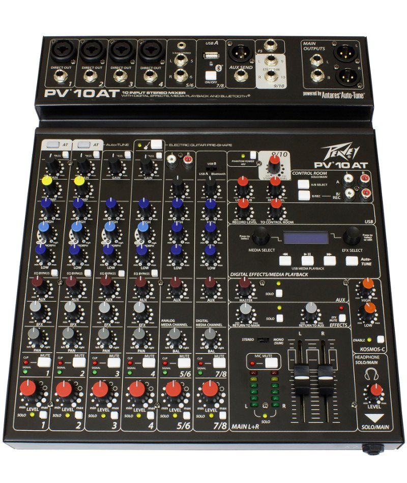 10-Channel Mixer With Antares Auto-Tune