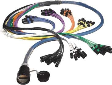 """150ft 24 Channel Inline Multipin/Fanout Snake with W3IRP Multipin Connector, (8) 1/4"""" TRS Returns"""