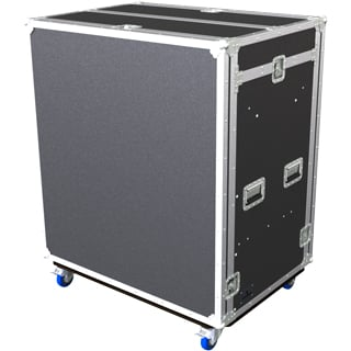 Tour 8 Series Double 18RU Combo Case with Casters, Black