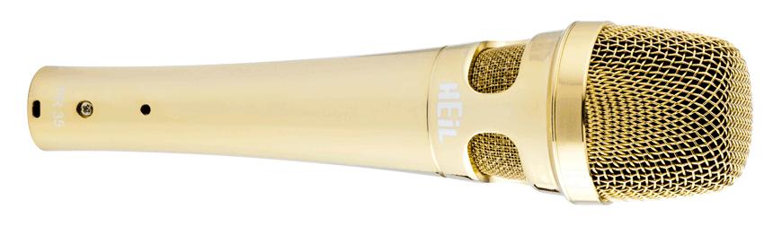 Large Diameter Hand-Held Microphone, Gold